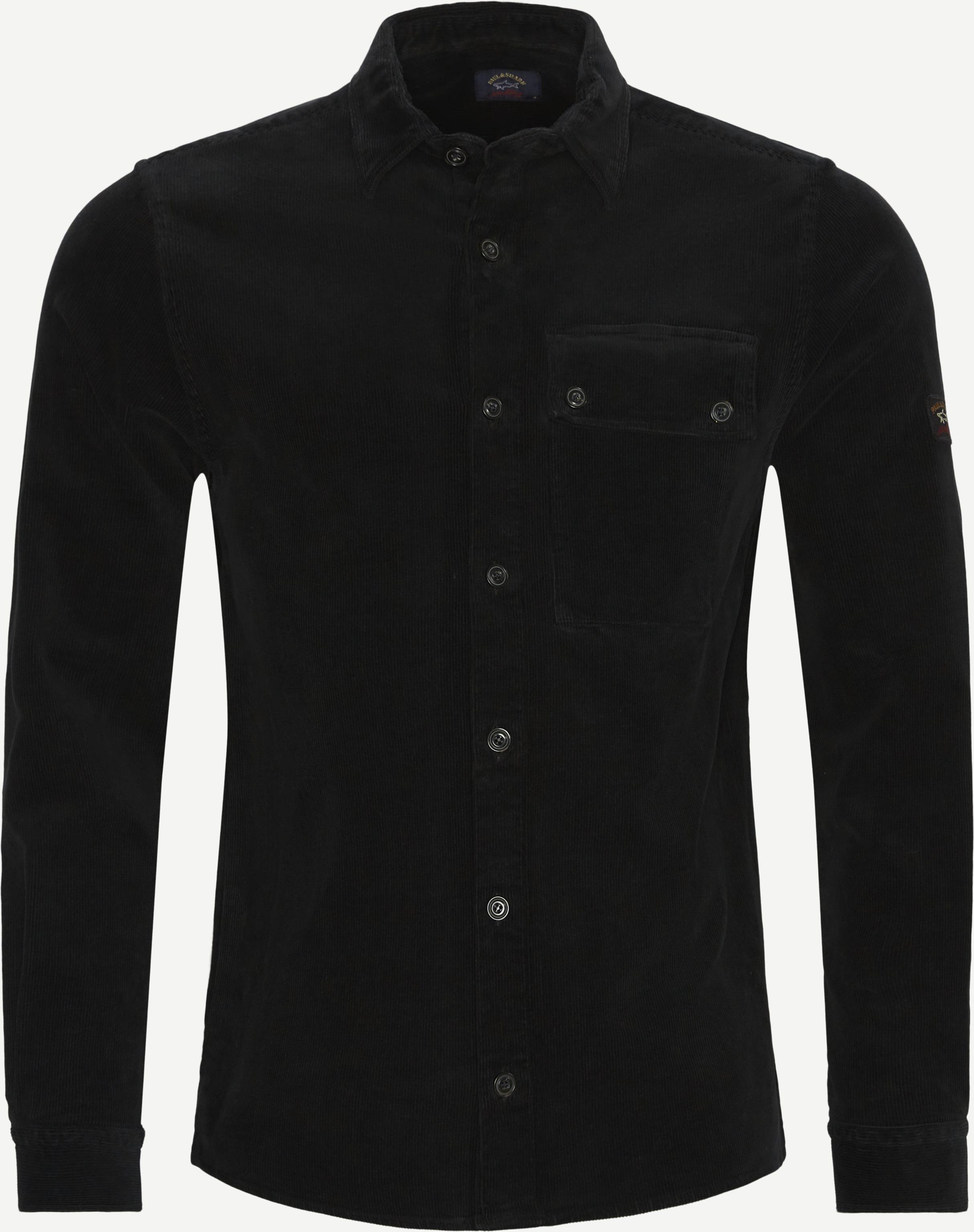 Corduroy Overshirt - Skjortor - Regular - Svart