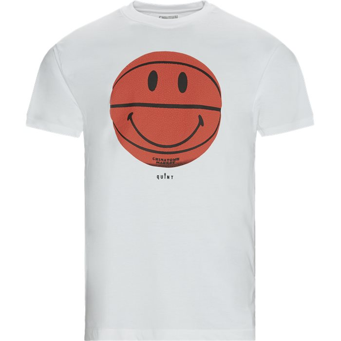 Smiley CTM X QUINT BBall Tee - T-shirts - Regular - Hvid