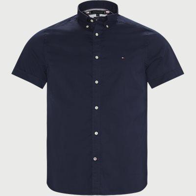 Slim Fine Twill Shirt S/S Slim | Slim Fine Twill Shirt S/S | Blå
