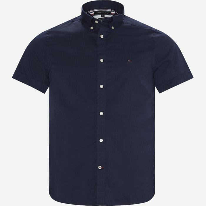 Slim Fine Twill Shirt S/S - Kortærmede skjorter - Slim - Blå