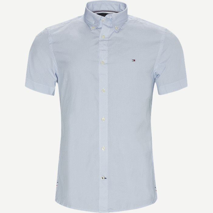 Kurzärmlige Hemden - Slim - Blau