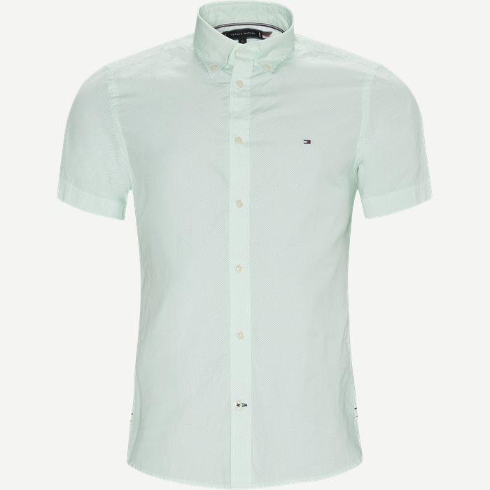 Kurzärmlige Hemden - Slim - Türkis