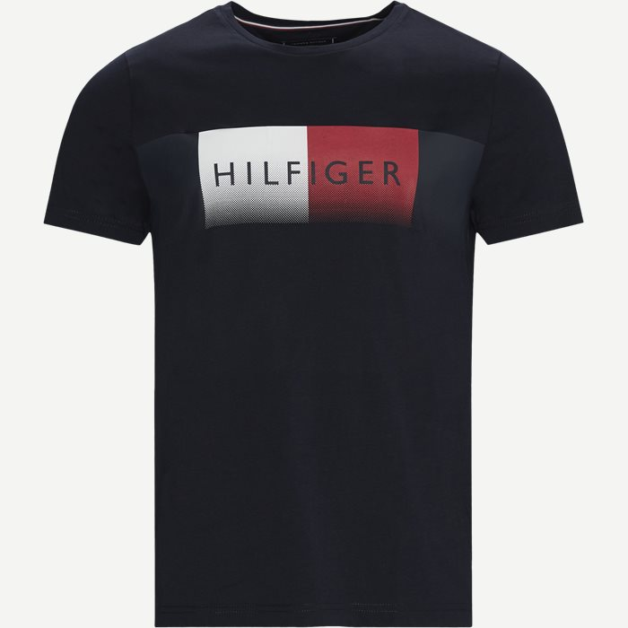 TH Cool Fade T-Shirt - T-shirts - Regular - Blå
