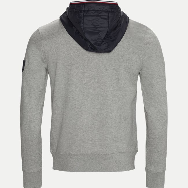 Mixed Media Hooded Sweatshirt