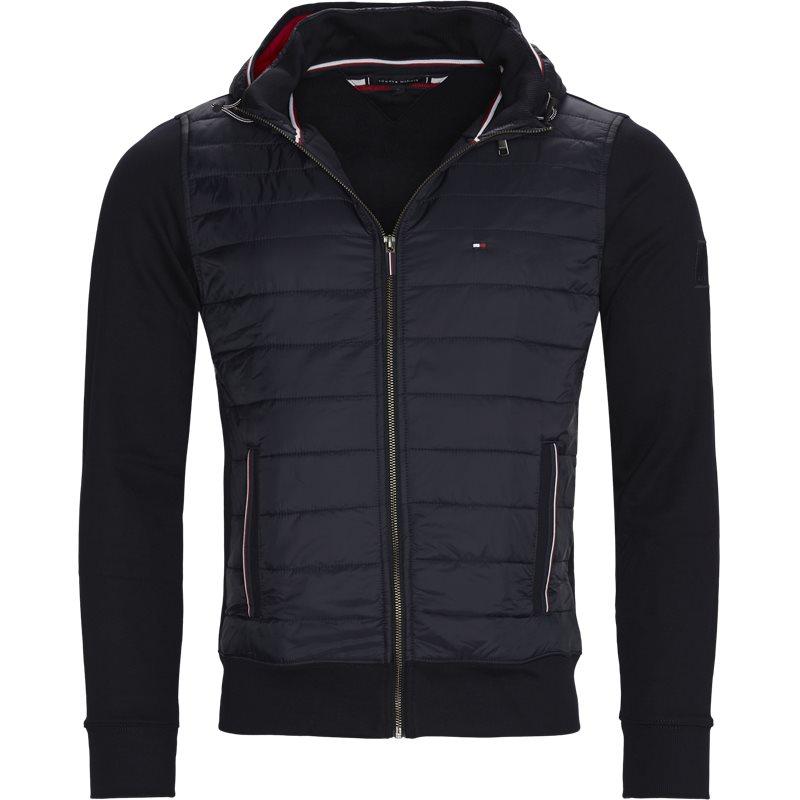 Tommy hilfiger - mixed media hooded sweatshirt fra tommy hilfiger fra kaufmann.dk