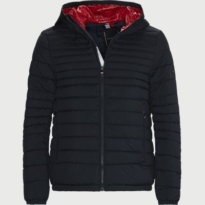 Quilted Hooded Jacket Regular | Quilted Hooded Jacket | Blå