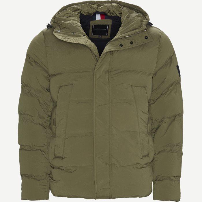 Hooded Stretch Jacket - Jakker - Regular - Army