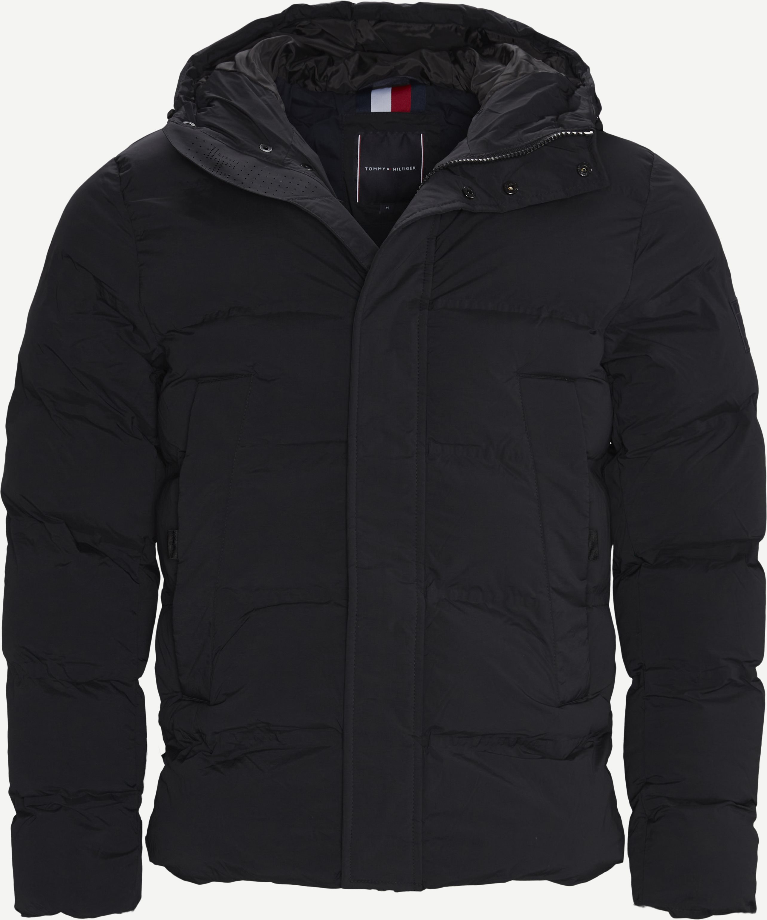 Hooded Stretch Jacket - Jackets - Regular - Black