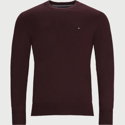 Pima Cotton Cashmere Crew Neck Striktrøje Regular | Pima Cotton Cashmere Crew Neck Striktrøje | Bordeaux