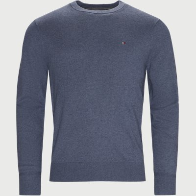 Pima Cotton Cashmere Crew Neck Striktrøje Regular | Pima Cotton Cashmere Crew Neck Striktrøje | Denim