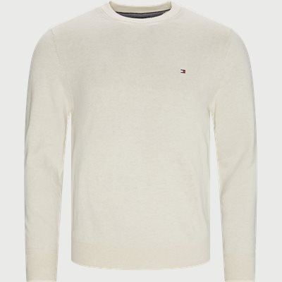 Pima Cotton Cashmere Crew Neck Striktrøje Regular | Pima Cotton Cashmere Crew Neck Striktrøje | Sand