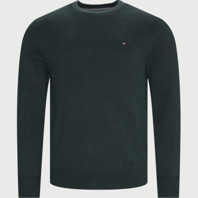Pima Cotton Cashmere Crew Neck Striktrøje Regular | Pima Cotton Cashmere Crew Neck Striktrøje | Grøn
