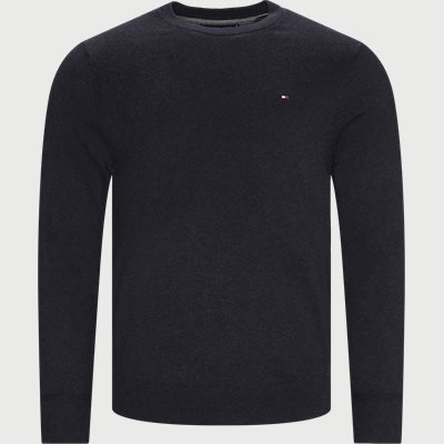 Pima Cotton Cashmere Crew Neck Striktrøje Regular | Pima Cotton Cashmere Crew Neck Striktrøje | Grå