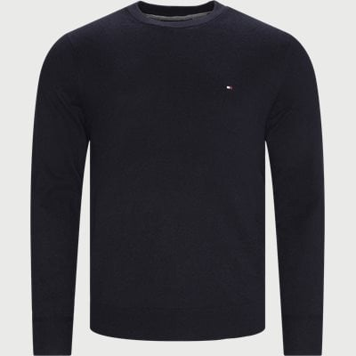 Pima Cotton Cashmere Crew Neck Striktrøje Regular | Pima Cotton Cashmere Crew Neck Striktrøje | Blå