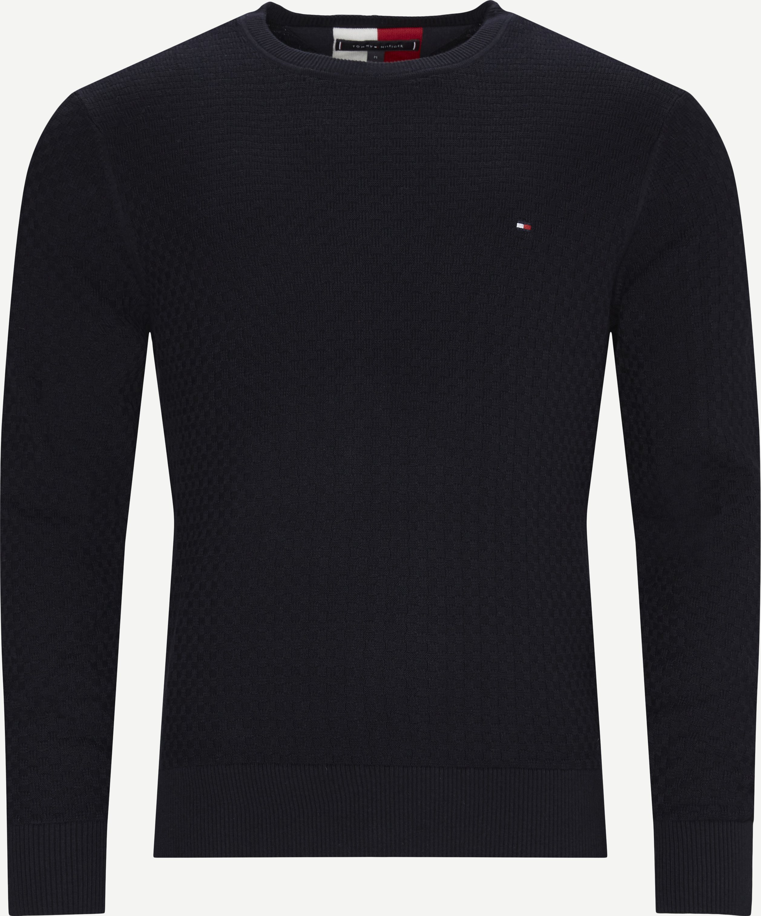 Weave Structured Sweater - Stickat - Regular - Blå