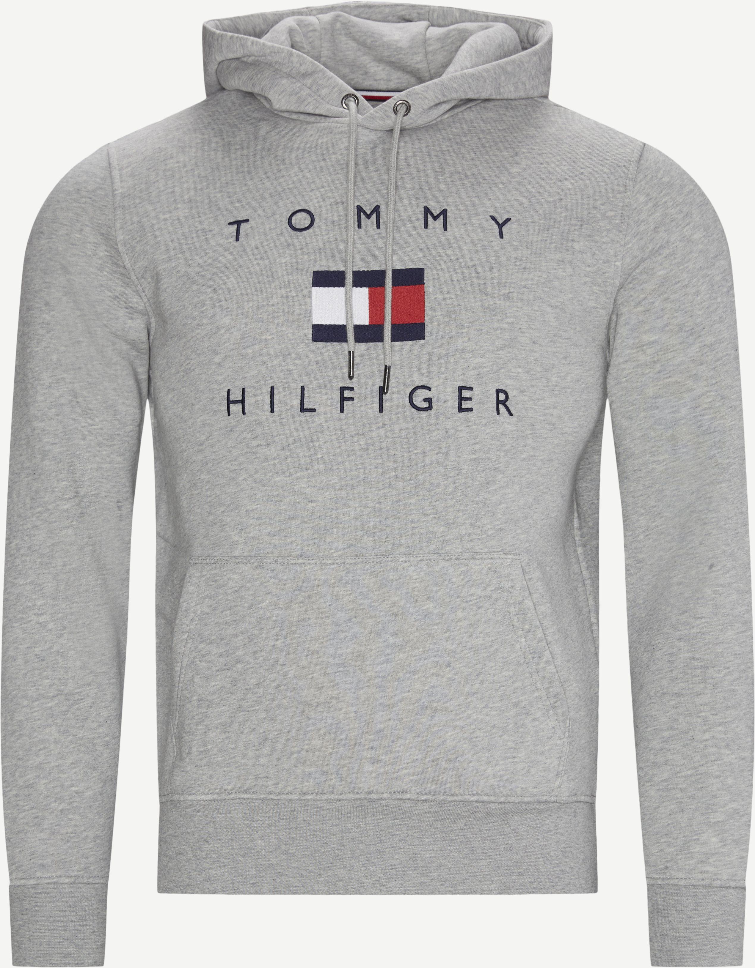 Flag Hoodie - Sweatshirts - Regular - Grey