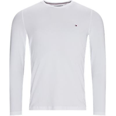 Stretch Long Sleeve T-shirt Slim   Stretch Long Sleeve T-shirt   Hvid