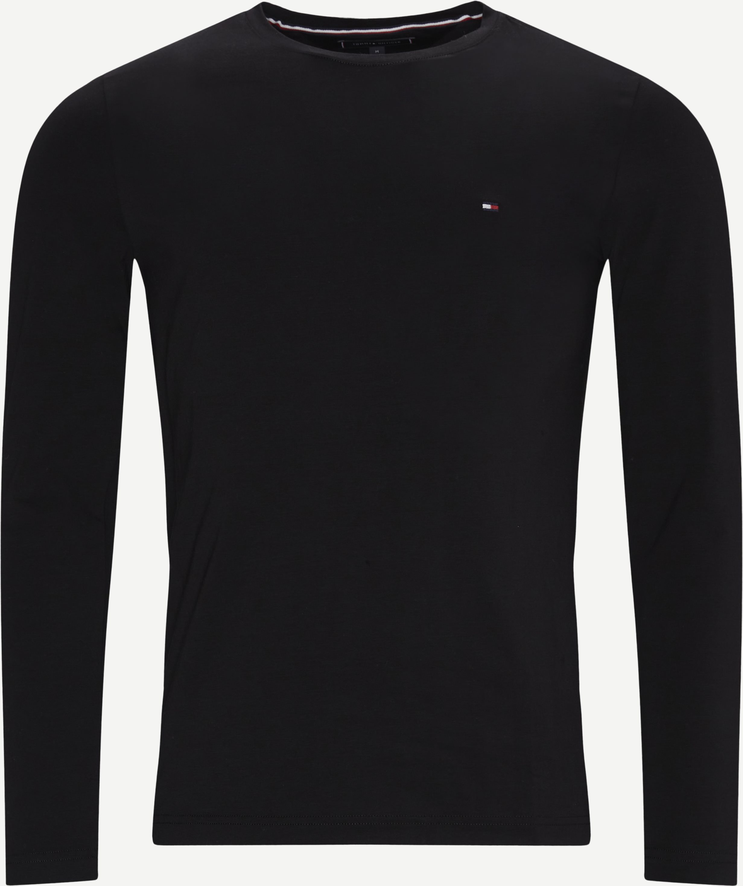 Stretch Long Sleeve T-shirt - T-shirts - Slim - Svart