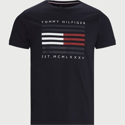 FLAG LINES T-shirt Regular | FLAG LINES T-shirt | Blå