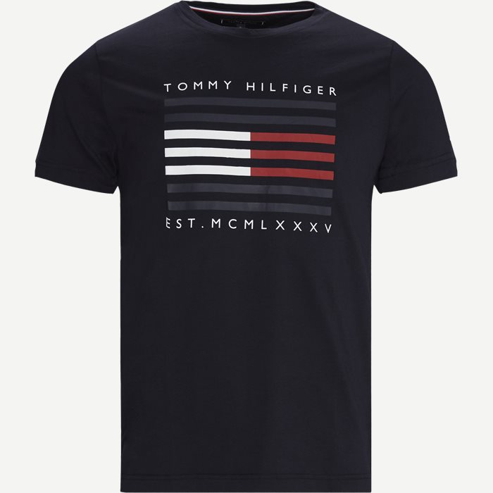 FLAG LINES T-shirt - T-shirts - Regular - Blå