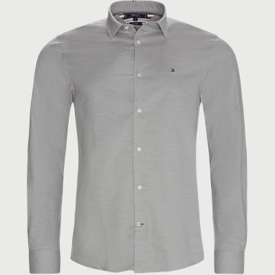 Flex Herringbone Shirt Slim fit | Flex Herringbone Shirt | Grey