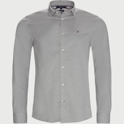 Flex Herringbone Shirt Slim | Flex Herringbone Shirt | Grey