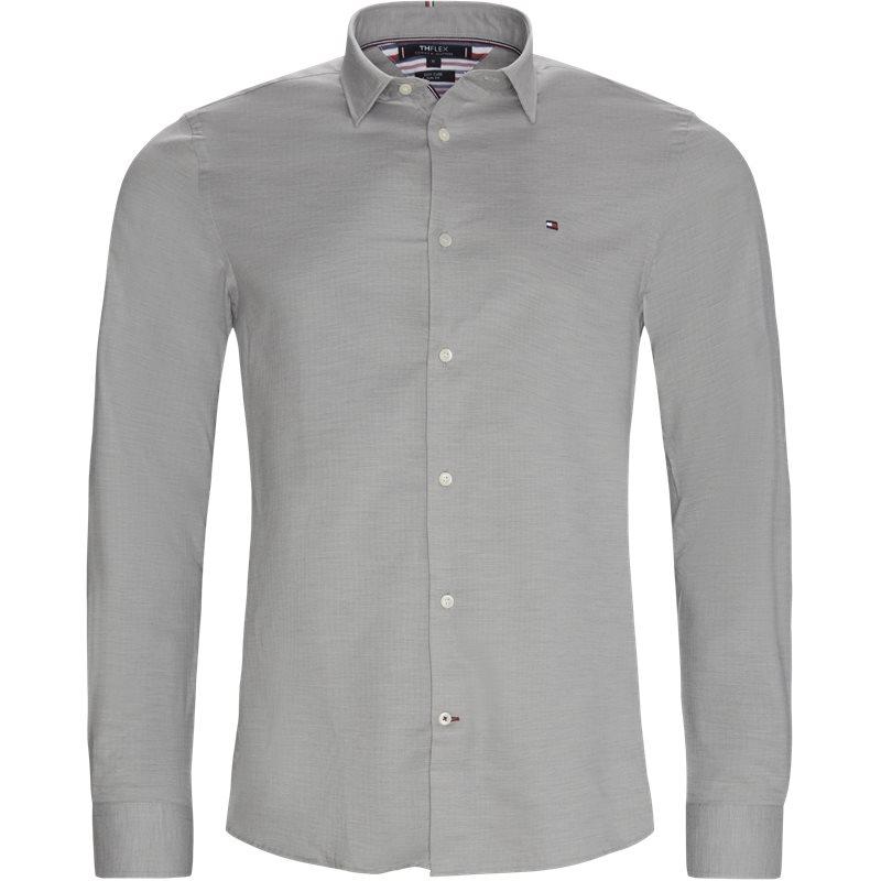 Tommy hilfiger - flex herringbone shirt fra tommy hilfiger på kaufmann.dk