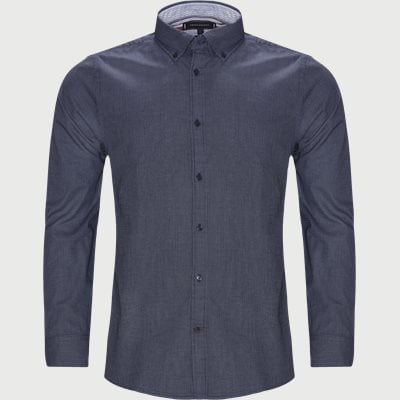 Textured Multi Dobby Shirt Slim | Textured Multi Dobby Shirt | Blue