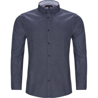 Textured Multi Dobby Shirt Slim   Textured Multi Dobby Shirt   Blå
