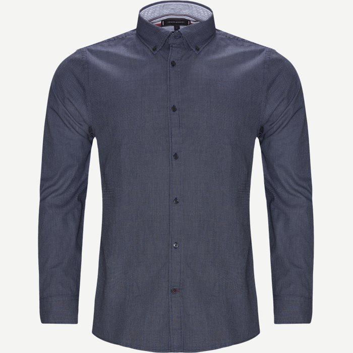 Textured Multi Dobby Shirt - Skjortor - Slim - Blå