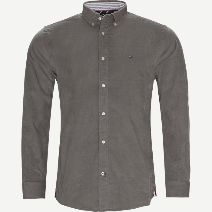 Flex Corduroy Shirt - Skjortor - Regular - Grå