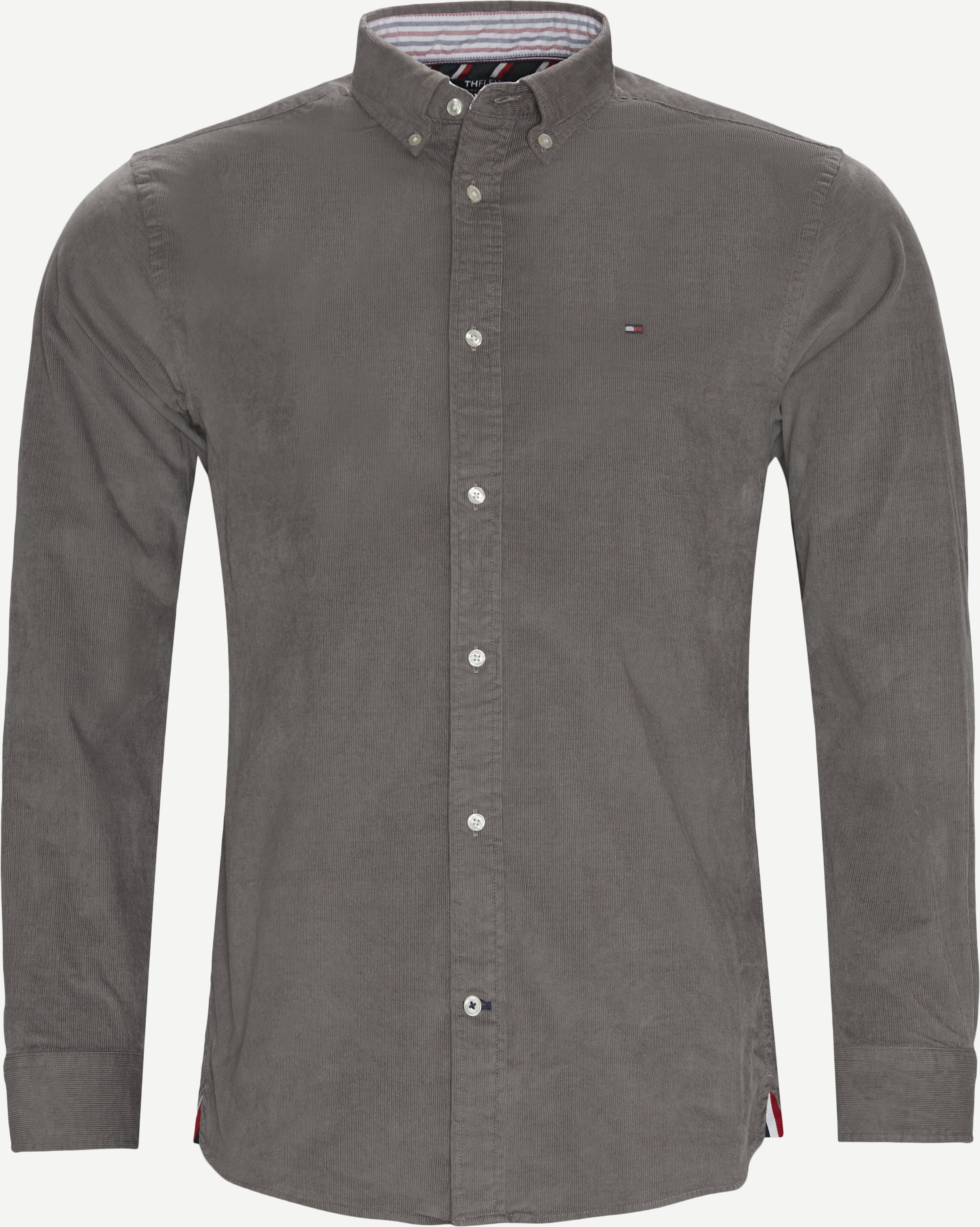 Flex Corduroy Shirt - Shirts - Regular - Grey