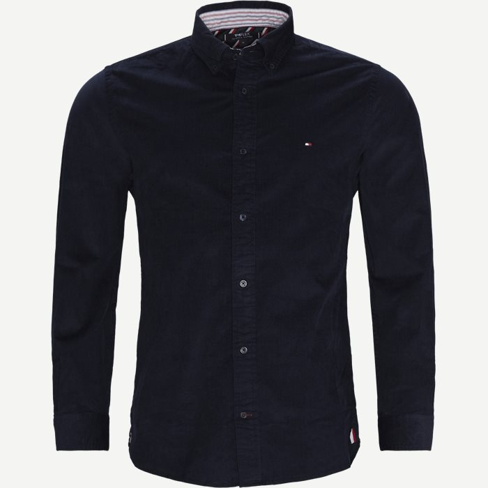 Flex Corduroy Shirt - Skjorter - Regular - Blå