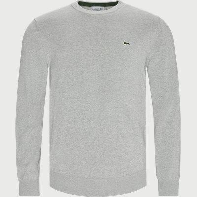 Crewneck Cotton Sweater Regular | Crewneck Cotton Sweater | Grå