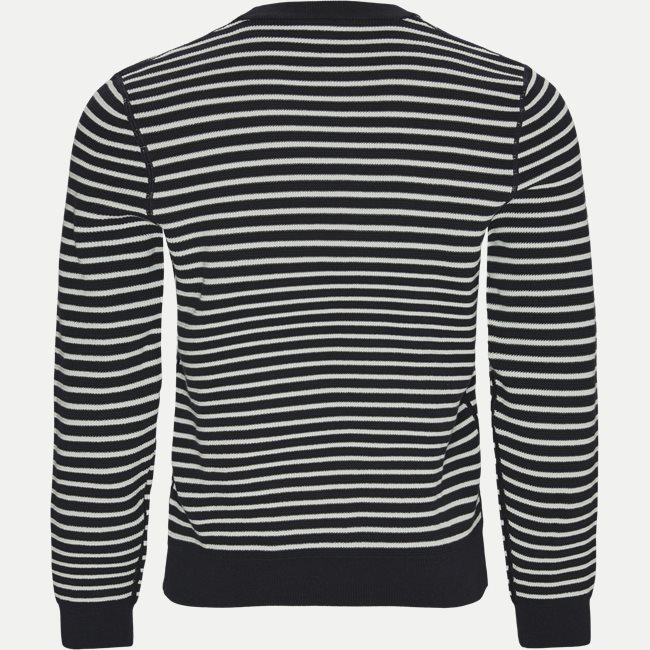 Striped Organic Cotton Crew Neck Sweater
