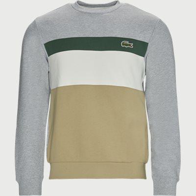 Colourblock Fleece Crew Neck Sweatshirt Regular | Colourblock Fleece Crew Neck Sweatshirt | Grå