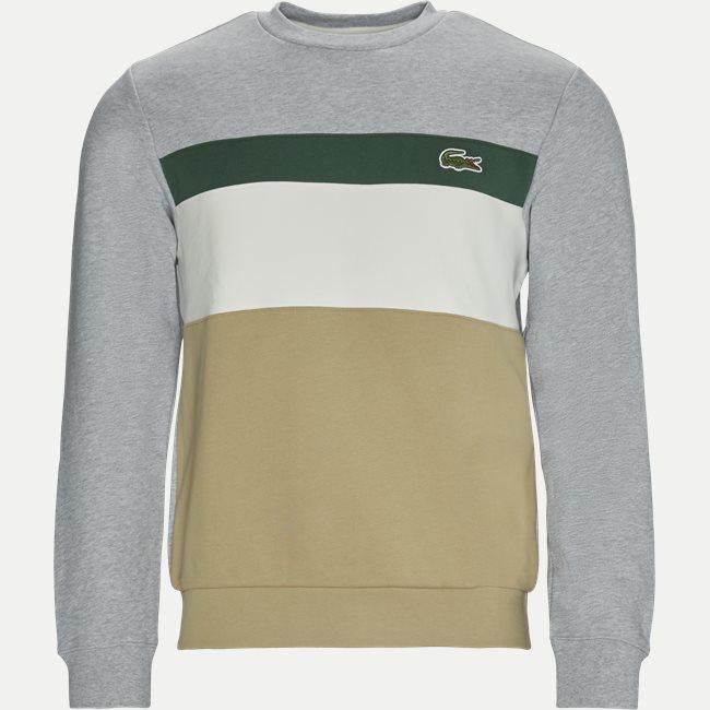 Colourblock Fleece Crew Neck Sweatshirt