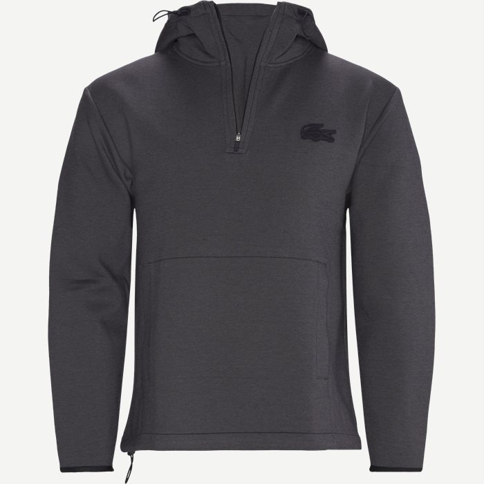 Hooded Cotton Blend Sweatshirt - Sweatshirts - Regular - Blå