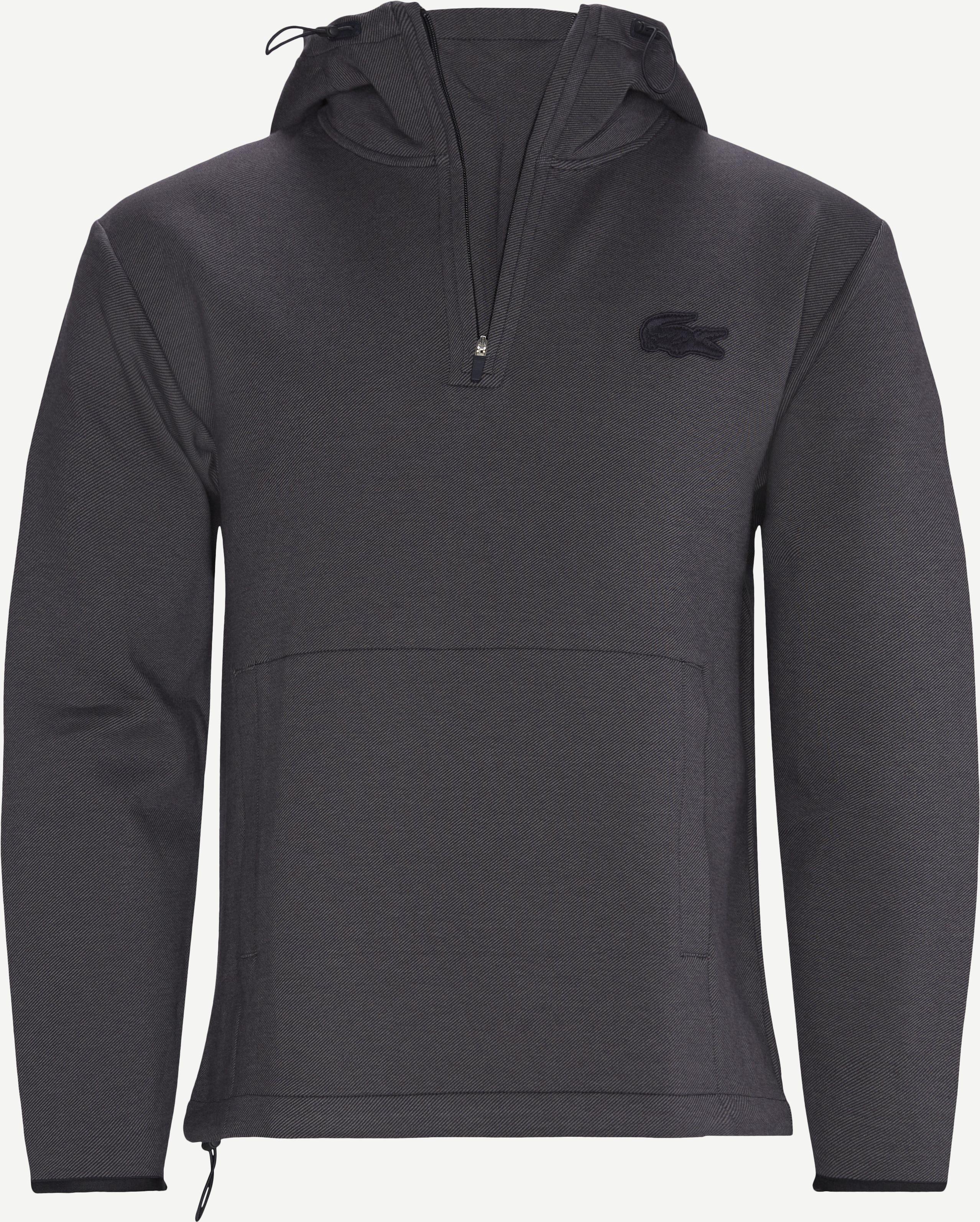 Hooded Cotton Blend Sweatshirt - Sweatshirts - Regular - Blue
