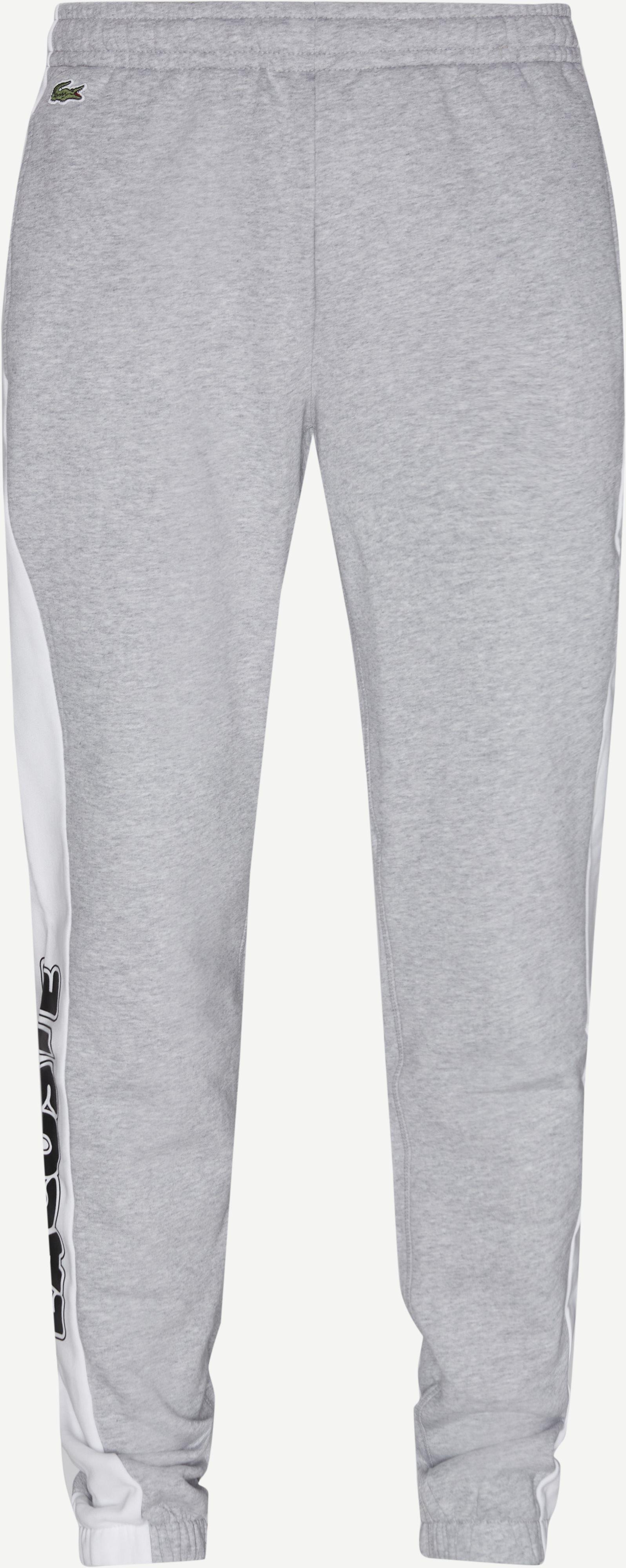 Bicolour Fleece Jogging Pants - Bukser - Regular - Grå