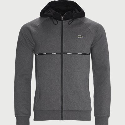 Hooded Two-Tone Fleece Zip Sweatshirt Regular | Hooded Two-Tone Fleece Zip Sweatshirt | Grå