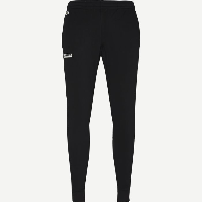 Badge Fleece Jogging Pants - Bukser - Regular - Sort