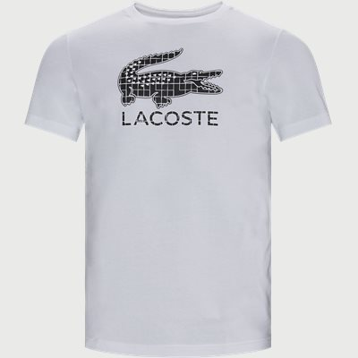 Crocodile Print Breathable Jersey T-shirt Regular | Crocodile Print Breathable Jersey T-shirt | Hvid
