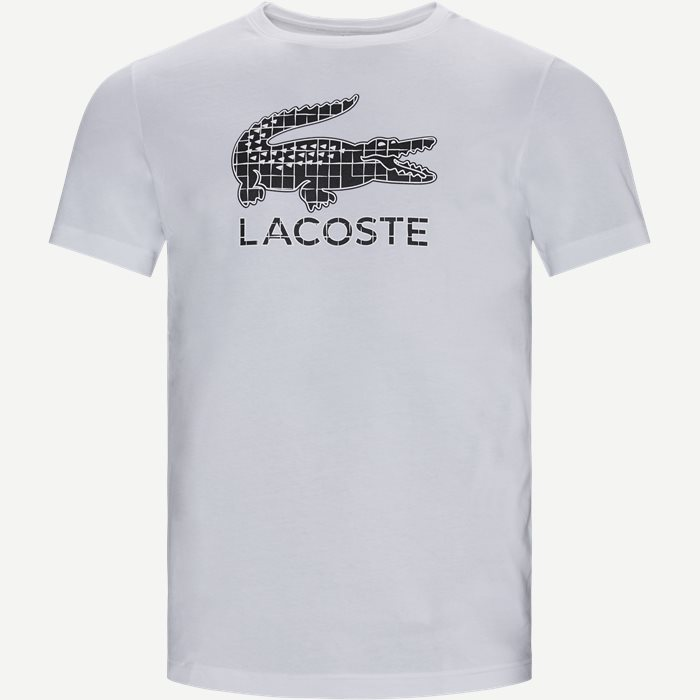 Crocodile Print Breathable Jersey T-shirt - T-shirts - Regular - Hvid