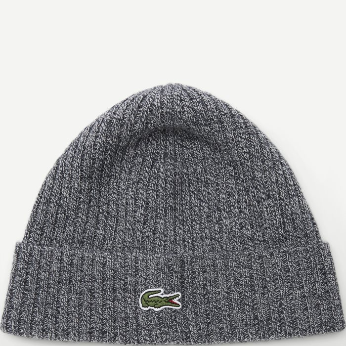 Ribbed Wool Beanie - Caps - Grå