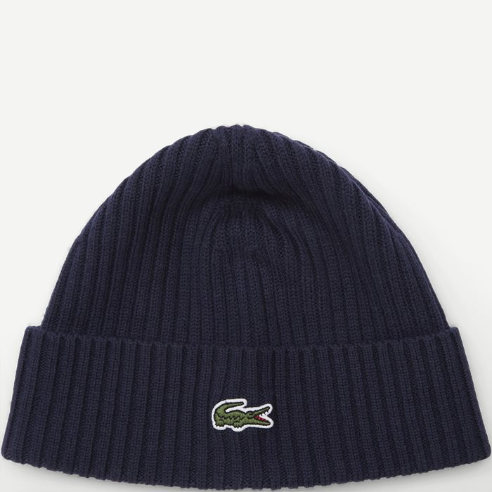Ribbed Wool Beanie - Caps - Blå