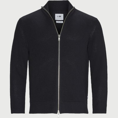 Piet Zip Cardigan Regular | Piet Zip Cardigan | Blå