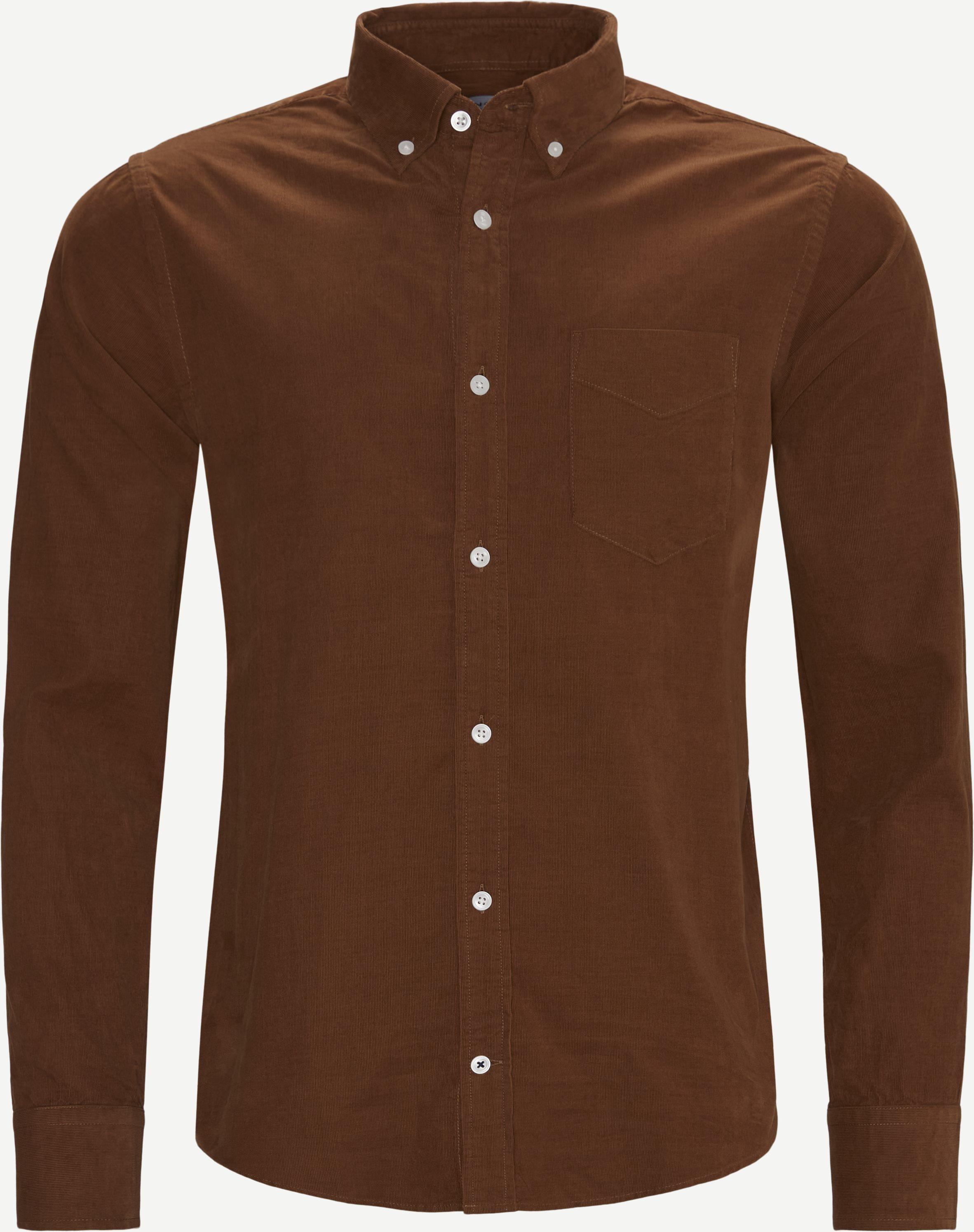 Levon Skjorte - Skjorter - Regular - Brun