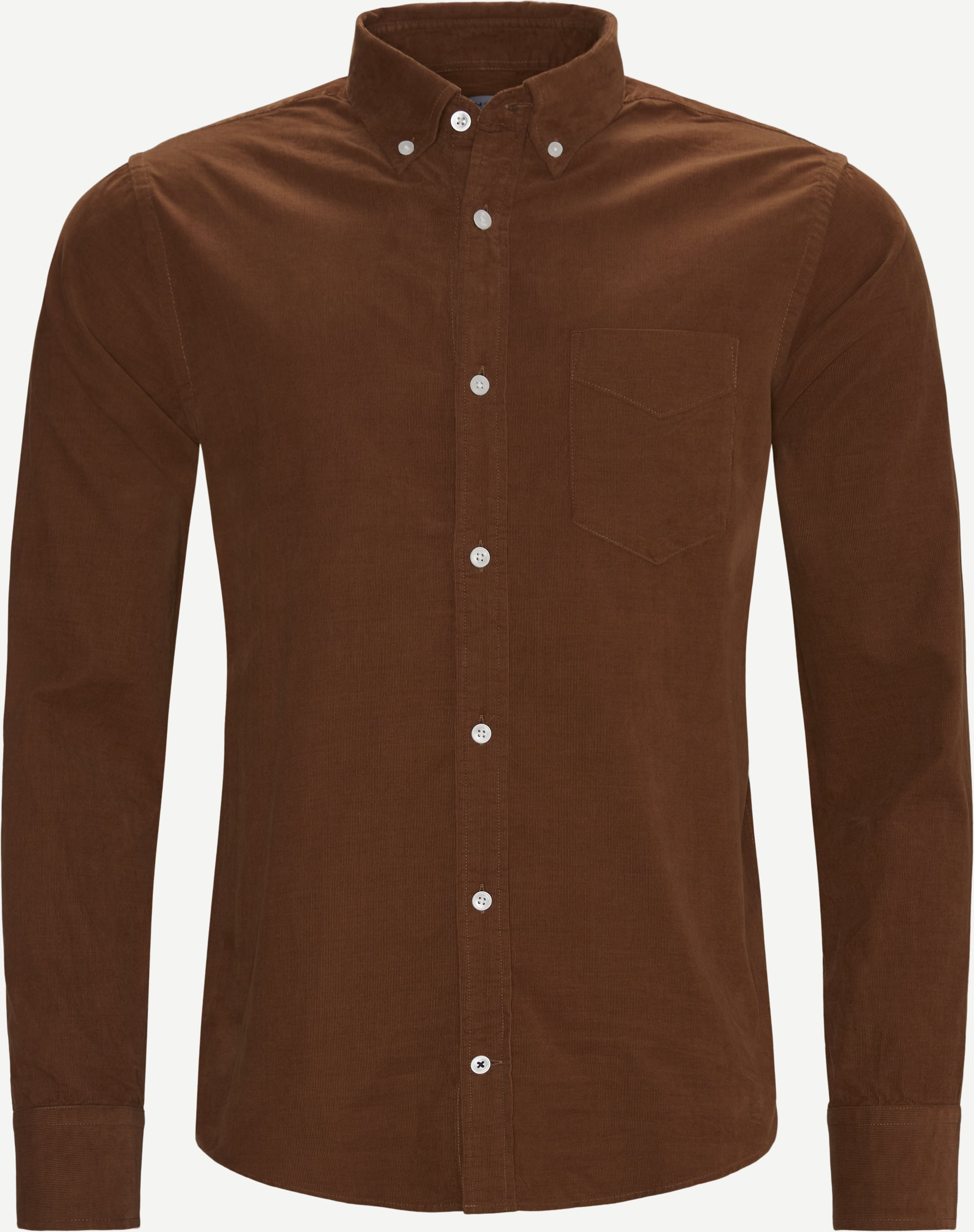 Skjortor - Regular - Brun