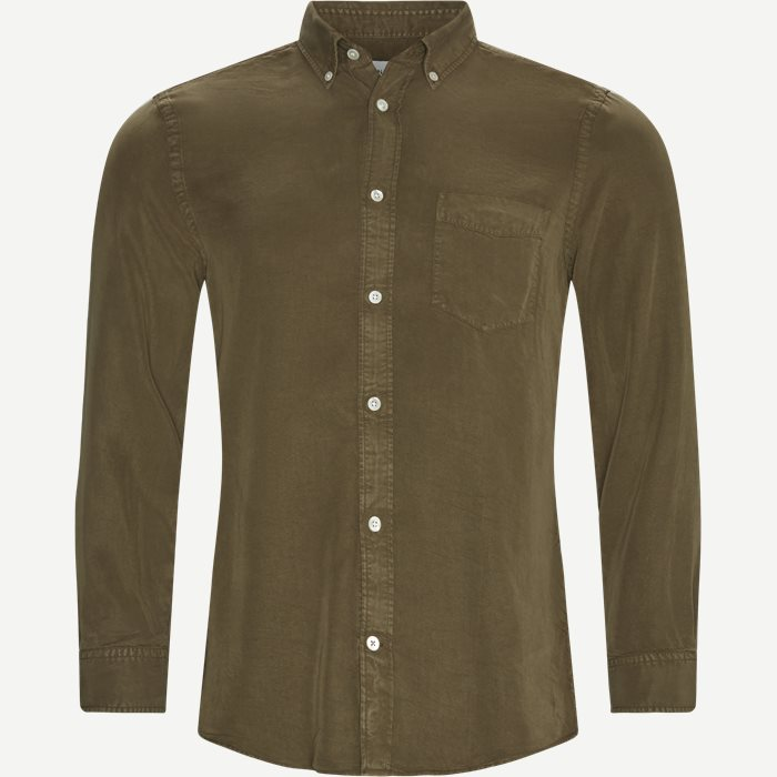 Manza Slim Shirt - Skjorter - Slim - Army